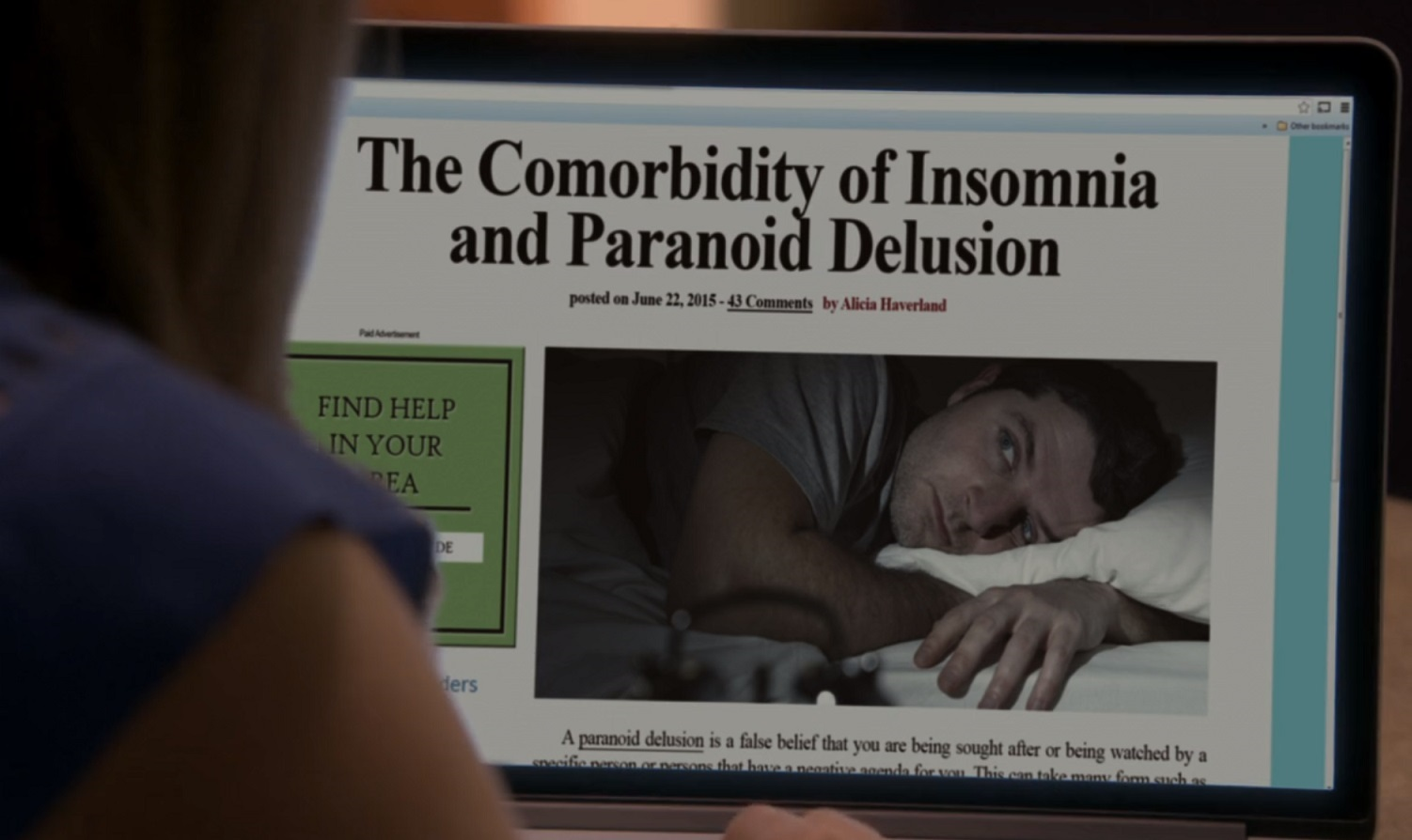 The Comorbidity of Insomnia and Paranoid Delusion